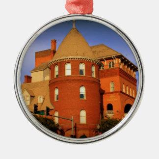 WINDSOR HOTEL, AMERICUS, GA ZILVERKLEURIG ROND ORNAMENT
