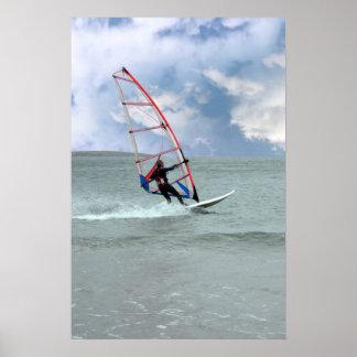 windsurfer in een storm poster