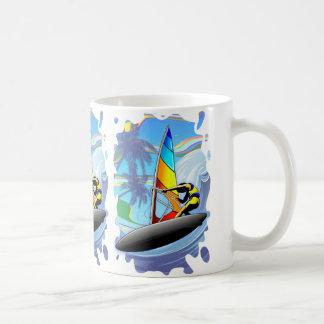 WindSurfer op de Oceaan Klassieke Witte Mok van
