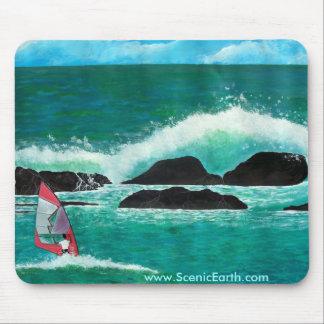 Windsurfing in schilderen van de Kunst Mousepad va Muismat