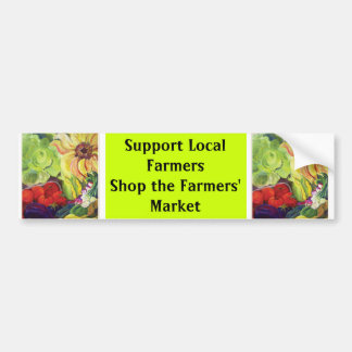 Winkelen de Lokale Landbouwers van de steun, de Ma Bumpersticker