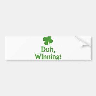 Winnend Charlie Sheen Bumpersticker