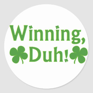 Winnend Charlie Sheen Ronde Sticker