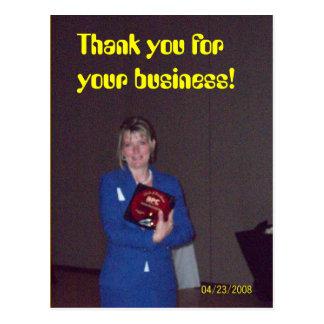 winnend toekenning, dank u voor uw zaken! briefkaart