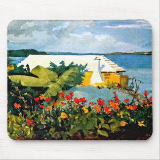 Winslow Homer: De Tuin en de Bungalow van de bloem Muismat