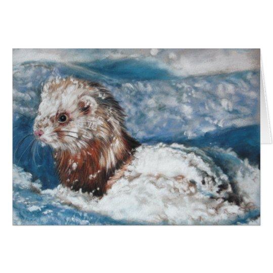 Winter's wonder Ferret Briefkaarten 0