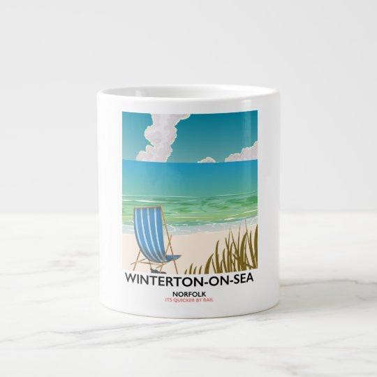 Winterton-op-zee de reisposter van het Strand van Jumbo Mok