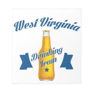 Wisconsin die team drink kladblokken