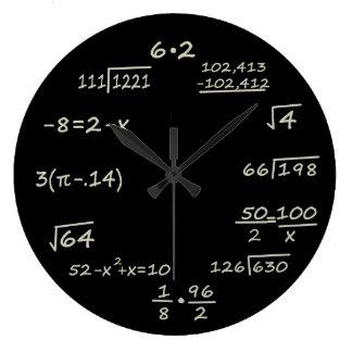 Wiskunde Geek Ronde Klok Large