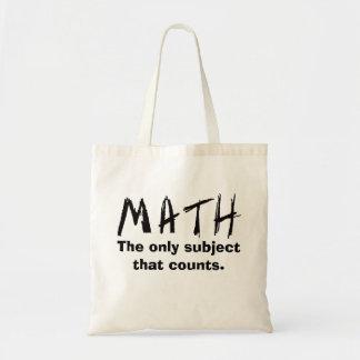 Wiskunde het Enige Onderwerp dat de Zak van het Draagtas
