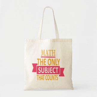 Wiskunde. Het enige onderwerp dat telt. De Grap Draagtas