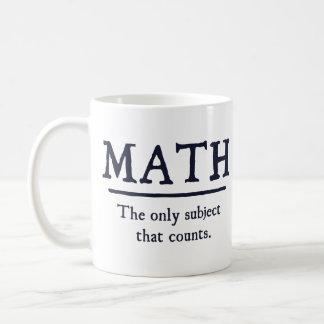 Wiskunde het Enige Onderwerp dat telt Koffiemok
