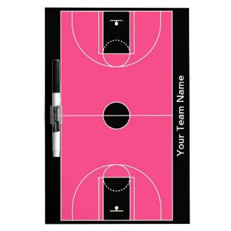 Wist het zwarte roze droge basketbal van de douane whiteboard