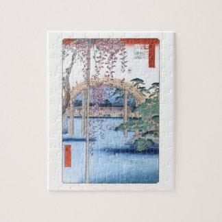 Wisteria bij het Fijne Art. van Hiroshige van het Puzzel