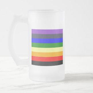Wit aan Zwarte Regenboog van de Ruimten van de Matglas Bierpul