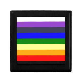 Wit aan Zwarte Regenboog van de Ruimten van de Vierkant Opbergdoosje Small