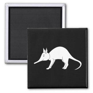 Wit Aardvarken. Leuk dier Vierkante Magneet