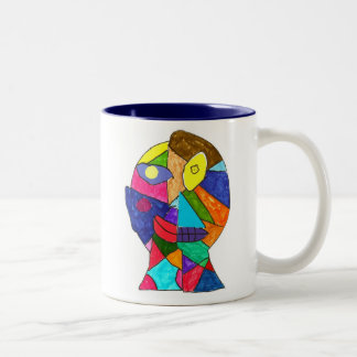 Wit - Alex K Tweekleurige Koffiemok