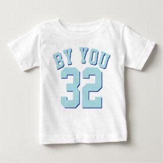 Wit & Baby Aqua | Ontwerp van Jersey van Sporten Baby T Shirts