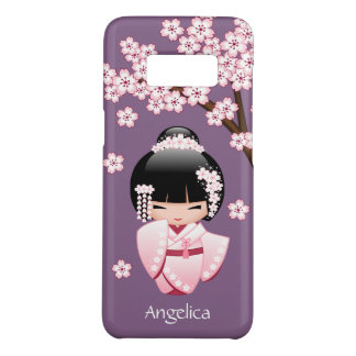 Wit Doll van Kokeshi van de Kimono - het Leuke Case-Mate Samsung Galaxy S8 Hoesje