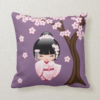 Wit Doll van Kokeshi van de Kimono - het Leuke Sierkussen