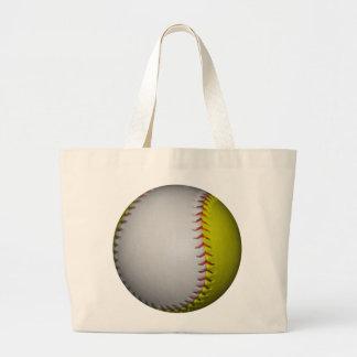Wit en Geel Softball/Honkbal Draagtassen