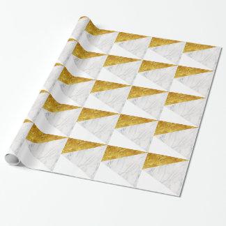 Wit en Gouden Marmer Inpakpapier