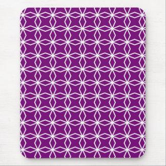 Wit en Paars Geometrisch Patroon Muismatten