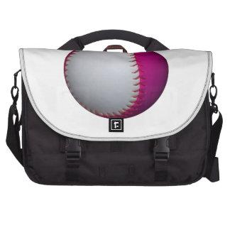 Wit en Roze Softball Tas Voor Laptop