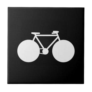 wit fiets modern ontwerp tegeltje vierkant small