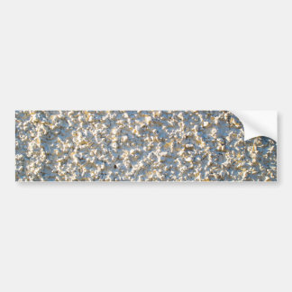 Wit-geschilderde Pebbledash Bumpersticker