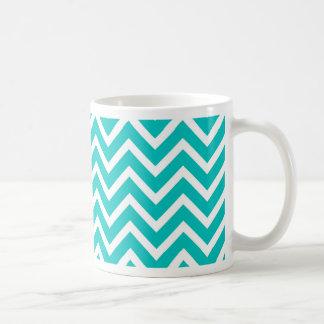 wit het patroonontwerp van de munt wit zigzag koffiemok