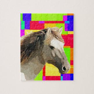Wit het Schilderen van het Portret van het Paard Puzzel