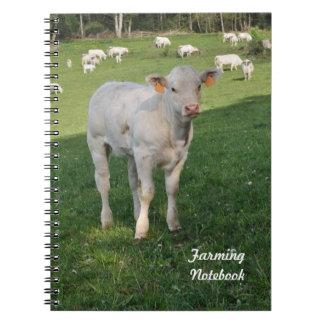 Wit kalf de landbouwnotitieboekje notitieboek