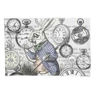 Wit Konijn Alice Wonderland Clock Kussensloop