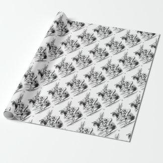 Wit Konijn Inpakpapier