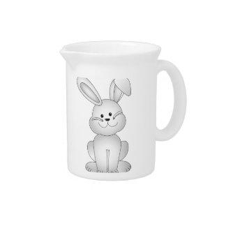 Wit konijntje clipart drank pitcher