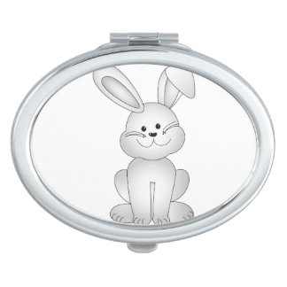 Wit konijntje clipart make-up spiegels