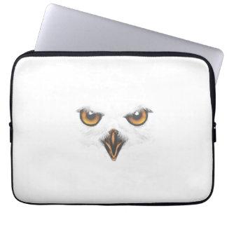 Wit Laptop van de Uil Sleeve