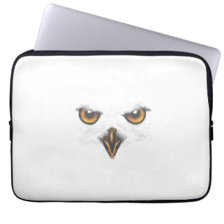 Wit Laptop van de Uil Sleeve Computer Sleeves