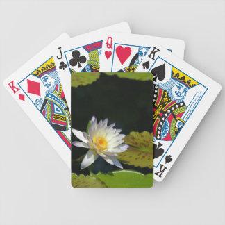 Wit Lotus Waterlily en de stootkussensSpeelkaarten Pak Kaarten