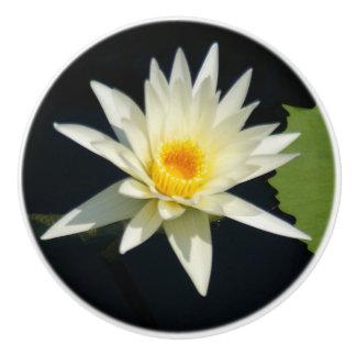 Wit Lotus Waterlily Keramische Knop