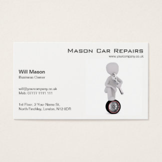 Wit Man, Mechanisch Visitekaartje Visitekaartjes
