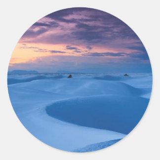 Wit Nationaal Monument 2 van het Zand Ronde Sticker