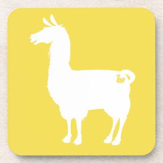 Wit op de Onderzetters van de Lama van de Kleur