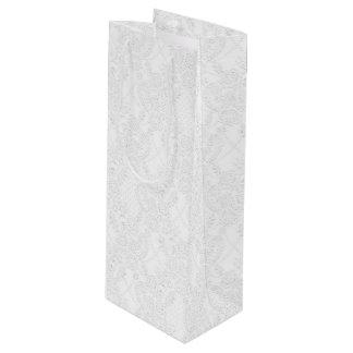 Wit op de Witte Bruids Zak van de Gift van de in Wijn Cadeautas