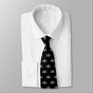 Wit op de Zwarte Smoking van het Embleem van de Persoonlijke Stropdassen