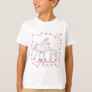 "Wit Paard - ""Mijn Mooi paard "" T Shirt"