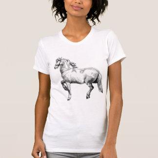 Wit paardt-shirt t shirt