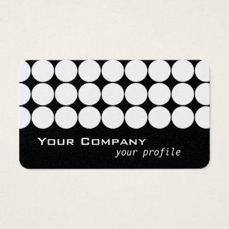 wit retro stip in zwarte visitekaartjes